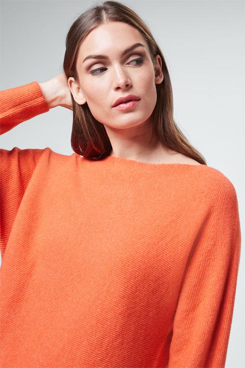 Pullover mit Cashmere in Orange