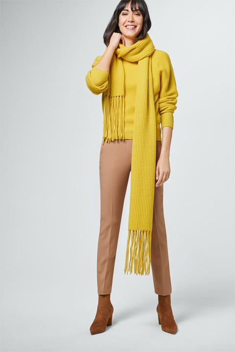 Schal in Gelb