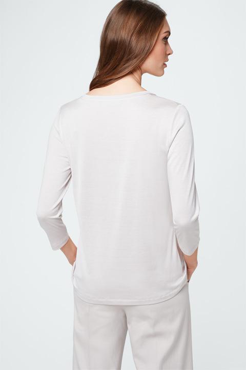 Blusen-Shirt in Beige-Nude