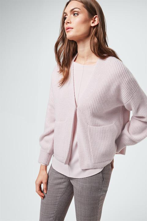 Cashmere-Cardigan in Rosé