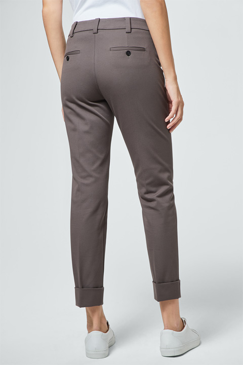 Chino mit Umschlag in Taupe