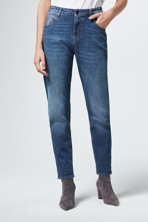 Girlfriend Jeans Gwen in Blau