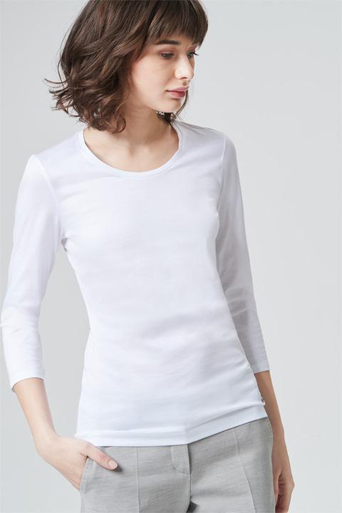 Weiches Baumwollshirt in Weiß