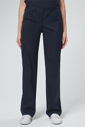 Baumwollstretch-Marlene-Hose in Navy