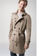 Trenchcoat Pado in Dunkelbeige