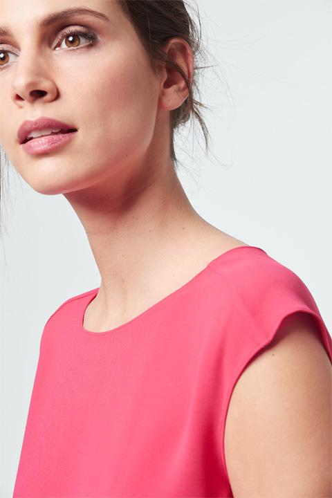 Crêpe-Bluse in Pink
