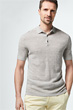 Strick-Polo-Shirt Lelio in Grau