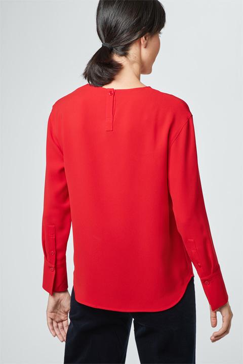 Crêpe-Bluse in Rot