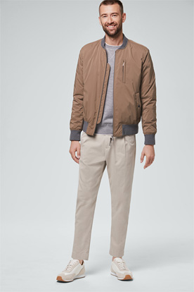 Baumwoll-Stretch-Chino Fiano in Beige