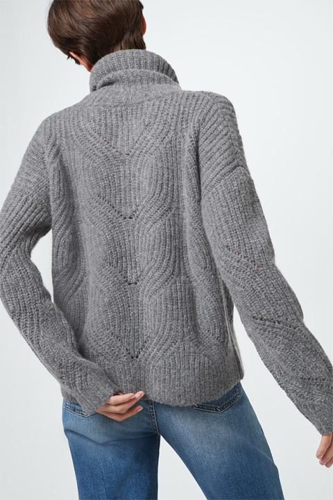 Pullover mit Kachmir in Grau