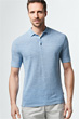 Strick-Polo-Shirt Lelio in Hellblau