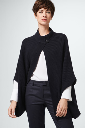 Kaschmir-Cape in Navy