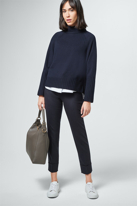 Strick-Pullover in Navy
