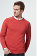Rundhals-Sweater Ebbo in Rot