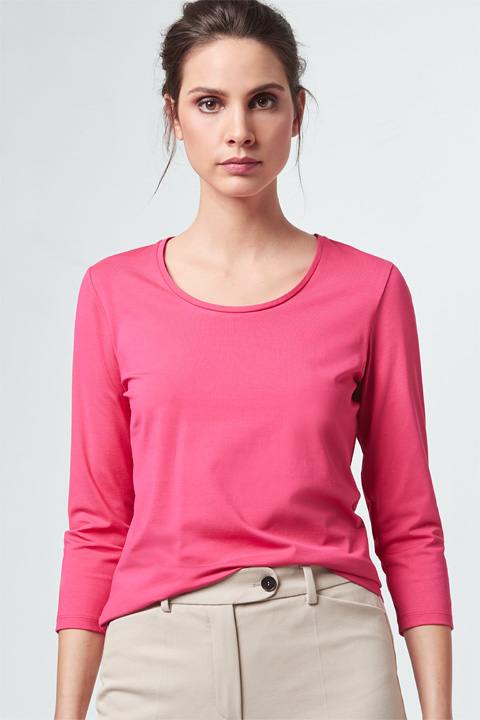 Jersey-Shirt in Pink