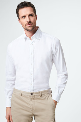Button-Down Hemd Luno in Weiß