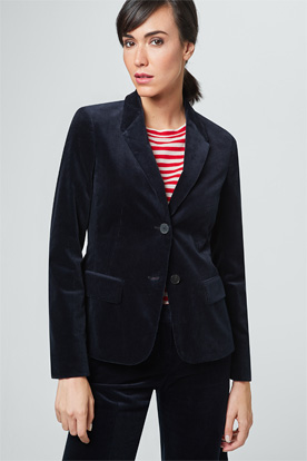 Cord-Blazer in Navy