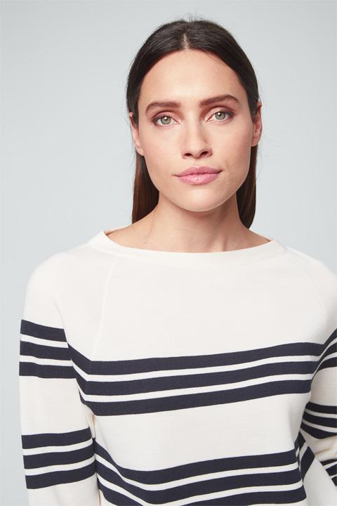 Pullover in Navy-Weiß