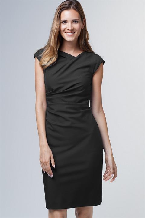 Drapé-Kleid in Schwarz
