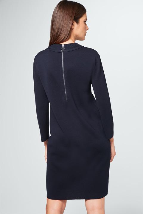 Strick-Kleid in Navy