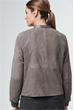 Veloursleder-Jacke in Graphit