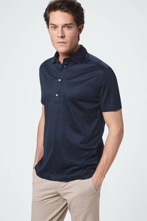 Poloshirt Lorenzi in Navy