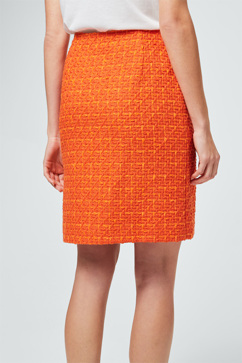 Bouclé-Rock in Orange