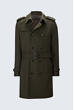 Woll-Trenchcoat Pado in Olive